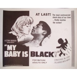 My Baby Is Black (half sheet)