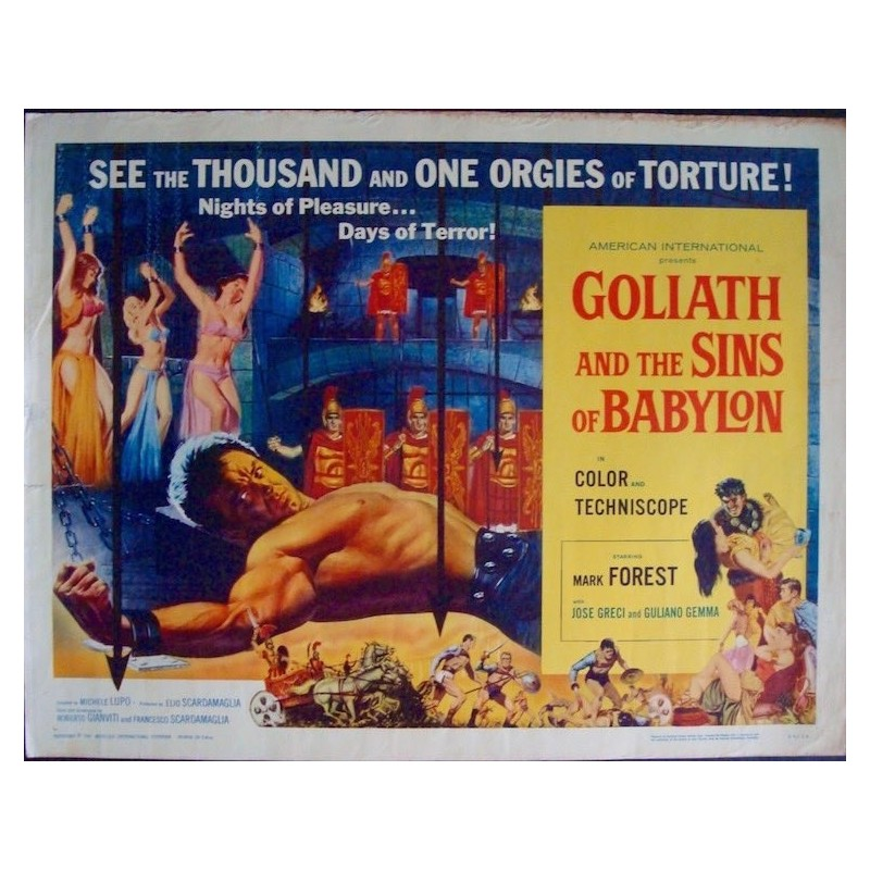 Goliath And The Sins Of Babylon (half sheet)