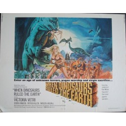 When Dinosaurs Ruled The Earth (half sheet)