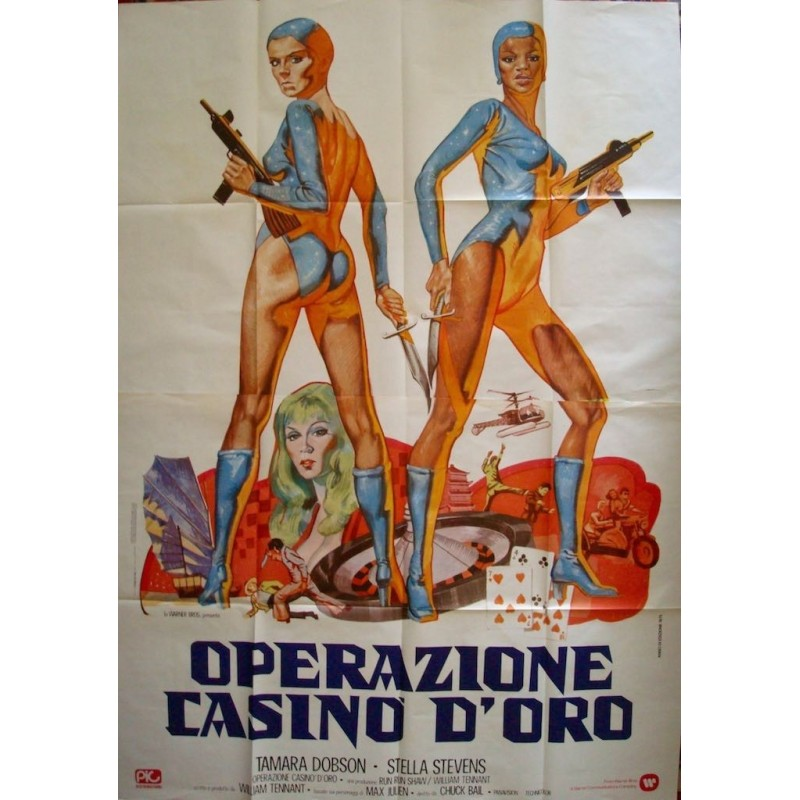 Cleopatra Jones And The Casino Of Gold Italian Movie Poster Illustraction Gallery
