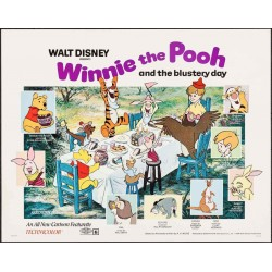 Winnie The Pooh And The Blustery Day (half sheet)