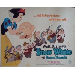 Snow White and the Seven Dwarfs (half sheet R67)