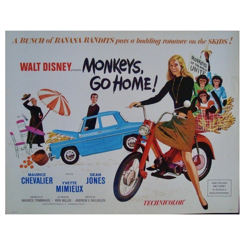 Monkeys Go Home (half sheet)