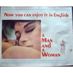 Man And A Woman - Un homme et une femme (half sheet)