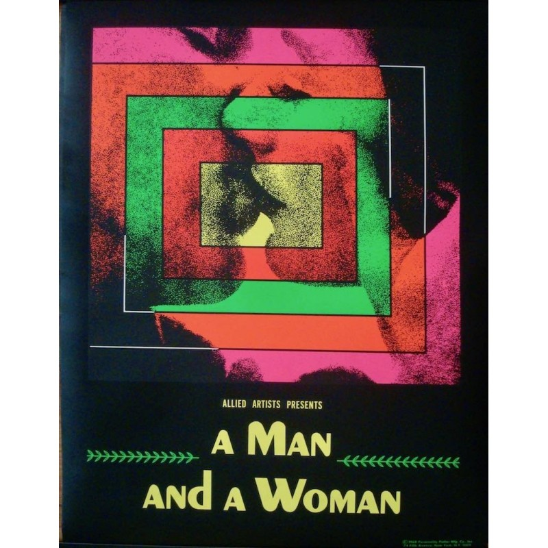 Man And A Woman - Un homme et une femme (blacklight)