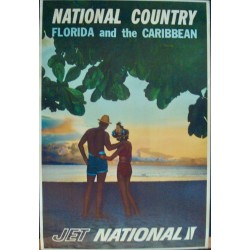 National Country Airlines - Florida and Caribbean (1948)