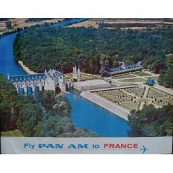 Pan Am France - Chateau de Chenonceau (1965)