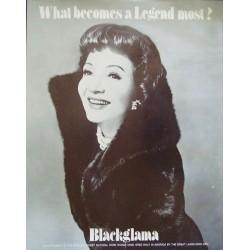 Blackglama Claudette Colbert