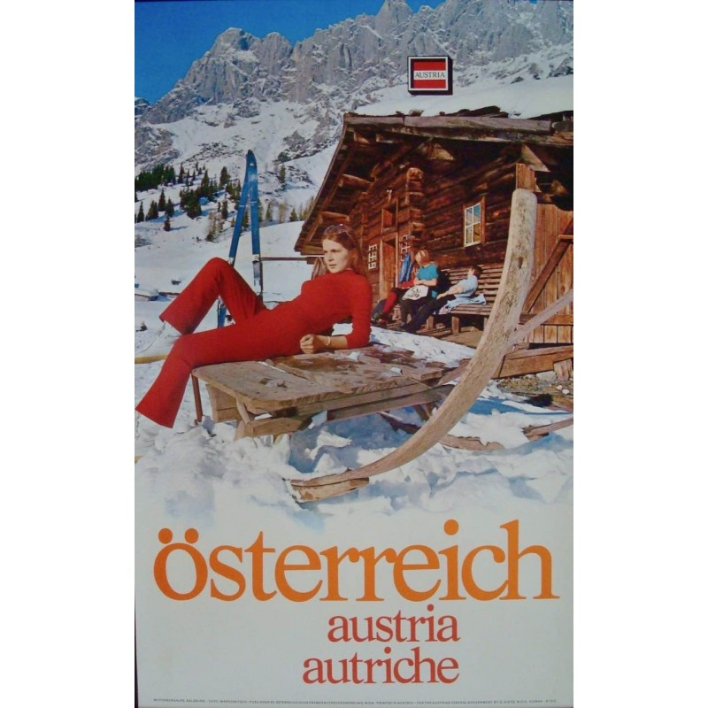 Austria: Osterreich Woman in Red (1972)