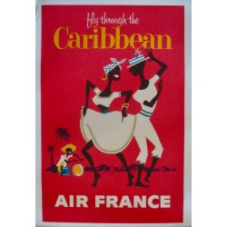 Air France Fly Through The Caribbean (1963 - LB)