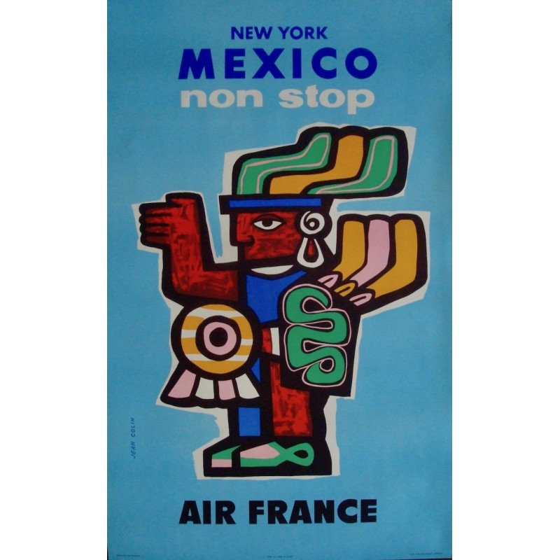 Air France New York Mexico Non Stop (1957