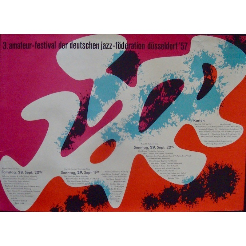 3rd German Jazz Amateur Festival: Dusseldorf 1957