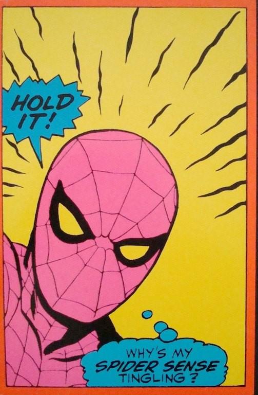 Spiderman: Hold It! (Marvel  Black light card)