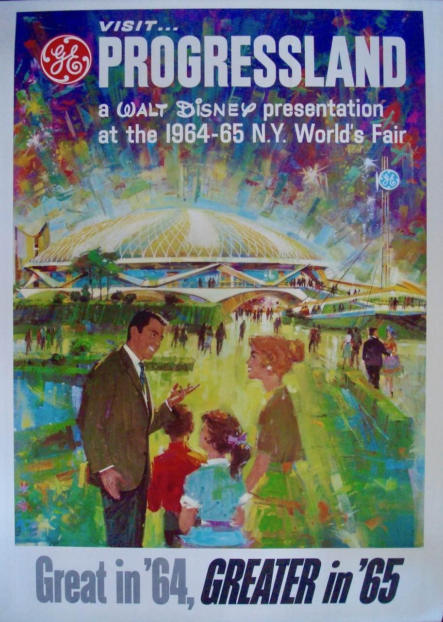 Visit Progressland New York World's Fair vintage 1964 travel poster