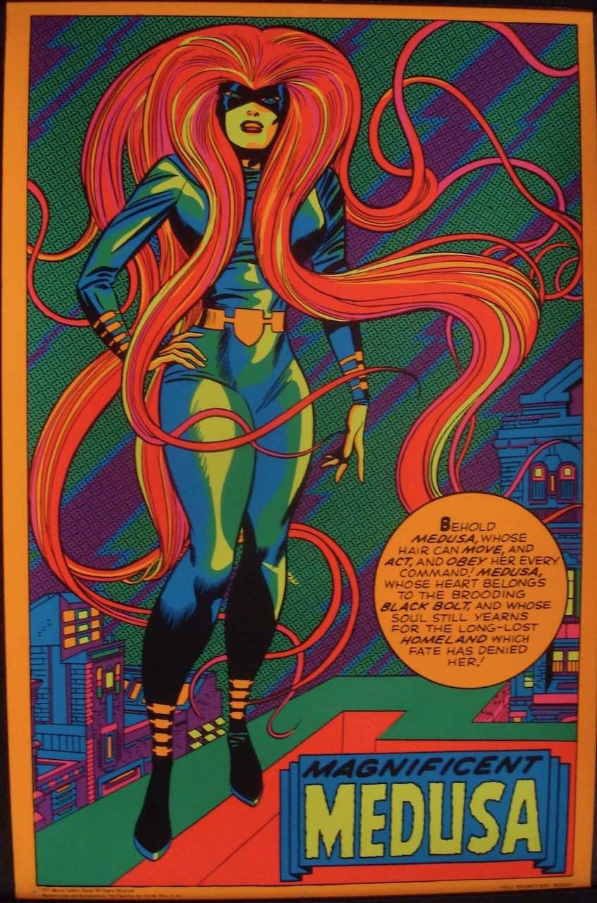 Magnificent Medusa (Marvel  Black light poster)
